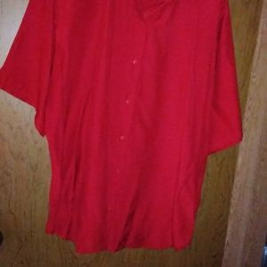 BE BASIC EDITION RED SHIRT BUTTON DOWN SIZE18W